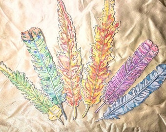 Handmade Feather Bookmarks