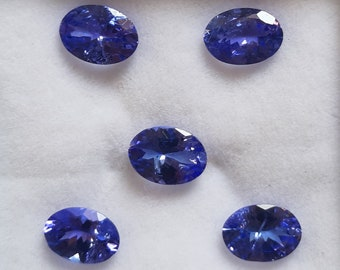 7X5 MM Oval Shape AAA Natural Blue Tanzanite Cabochon Cut 5 Pieces Calibrated Loose Gemstone Wholesale Lot 5X7 MM Oval Tanzanite Cabs