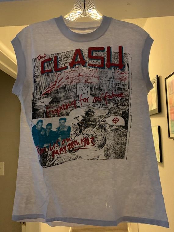 Vintage The Clash 1983 Tour T-Shirt Super Rare