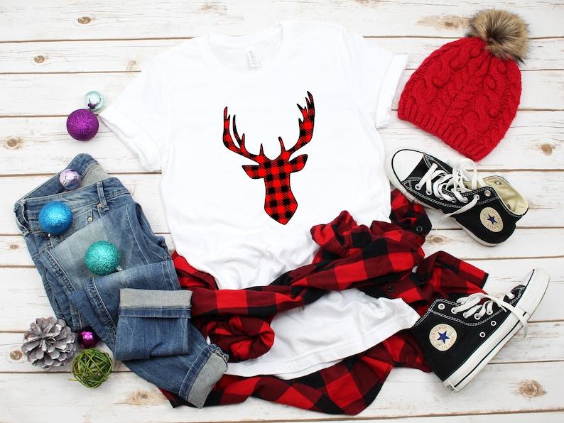 Deer 2 Shirt Merry Christmas T-Shirts Tshirt for Women Christmas Shirt Christmas Shirts Christmas Tshirt for Men
