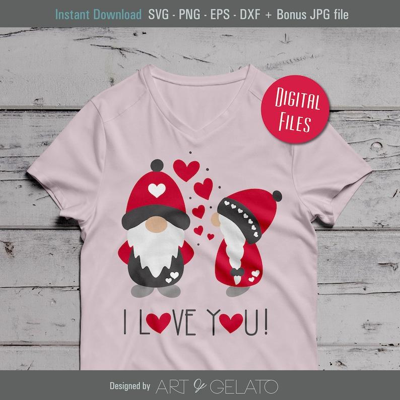 Download I Love You Gnomes svg Happy Valentines svg Love Gnomes svg ...