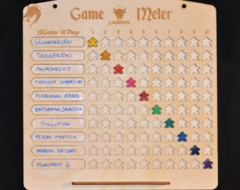 Game Meter - 10 games 10 player challenge board