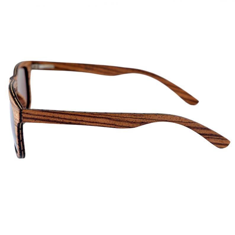 Ile de Ré Mens Sunglasses, Wood Sunglasses, Zebra Sunglasses, Skateboard Wood