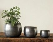 Set of 3 Zinc Metal Planters