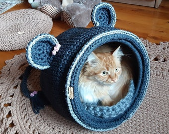 Cat cave pattern by Ioana van Deurzen | Crochet cat, Crochet dog, Crochet  animals | 270x340