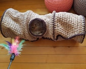 Crocheted pet tunnel Cat cave crochet Cat Dog bed home cocoon house crochet Small dog bed Small dog cave Cat hut Cat couch Little dog tunnel