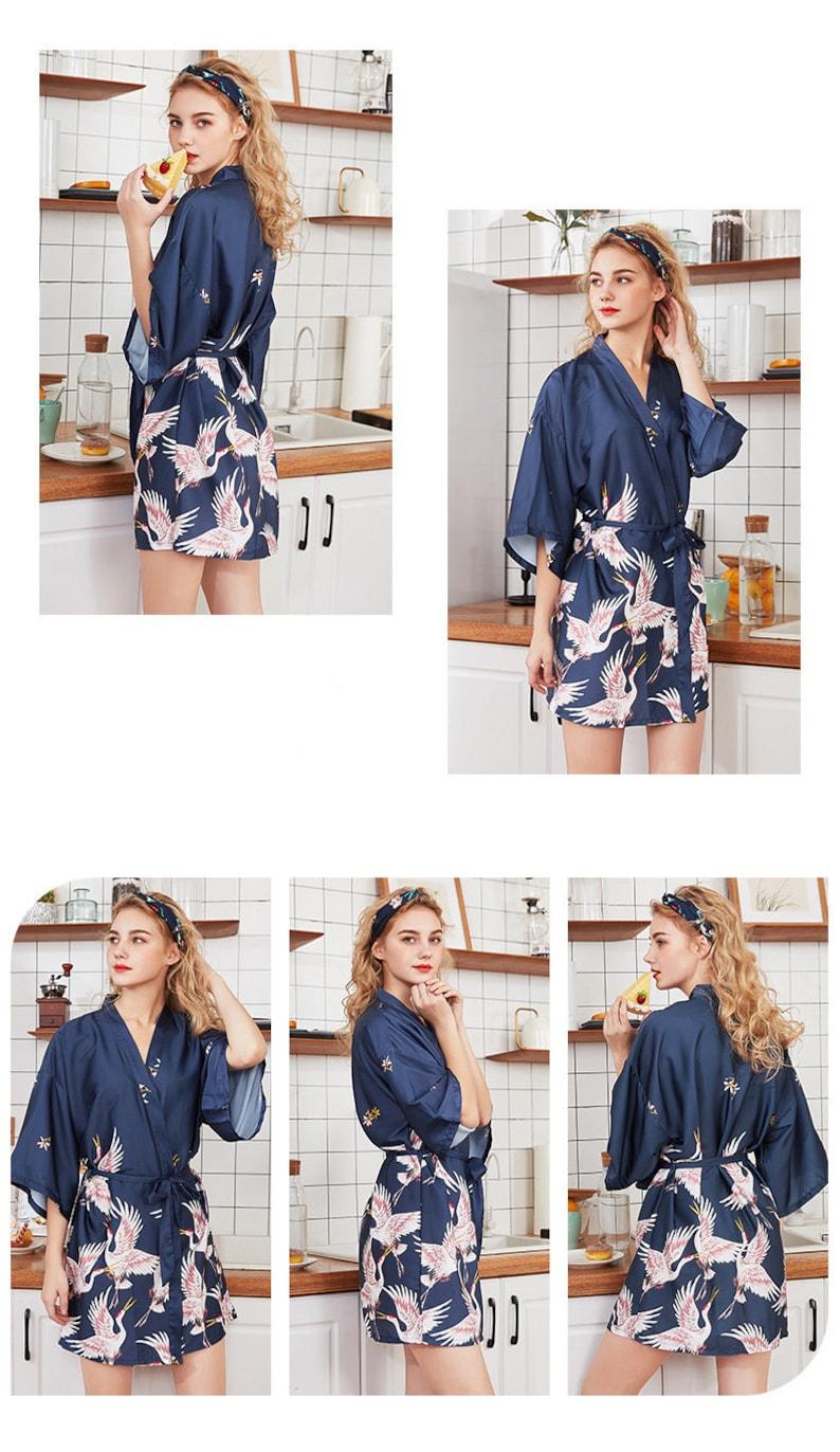 Kimono undressed printed Bathrobe