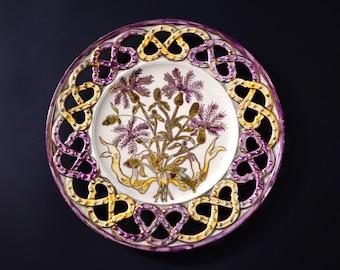 Antique floral dishes