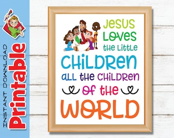 graphic about Jesus Loves Me Sign Language Printable identify Jesus enjoys the minor young children Etsy AU