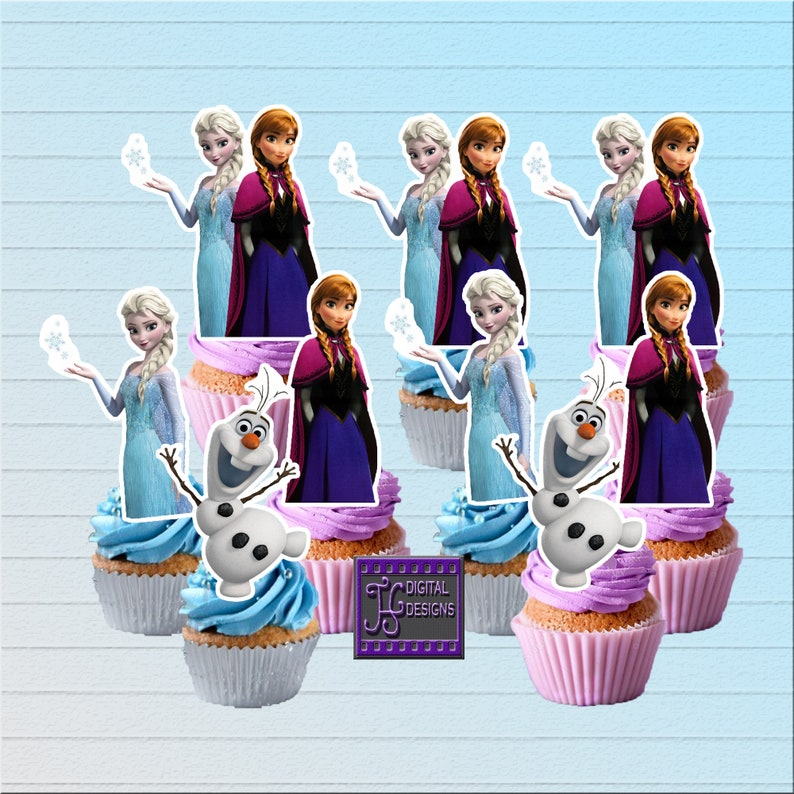 20 Disney FROZEN Princess Elsa Anna Olaf Butterfly/'s Birthday Cupcake Toppers