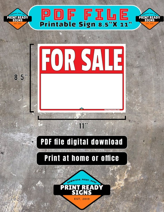 This is a picture of Printable for Sale Sign regarding word microsoft
