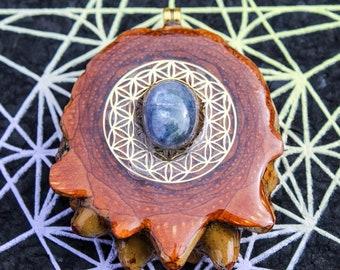 Garnet Odesza HYPNOMADIC healing hippy music festival knobcone pinecone pendant