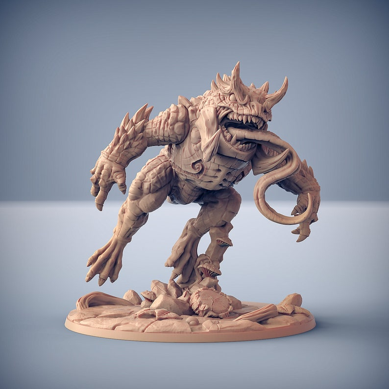 Giant Horned Demonfrog Ideal For Dungeons and Dragons