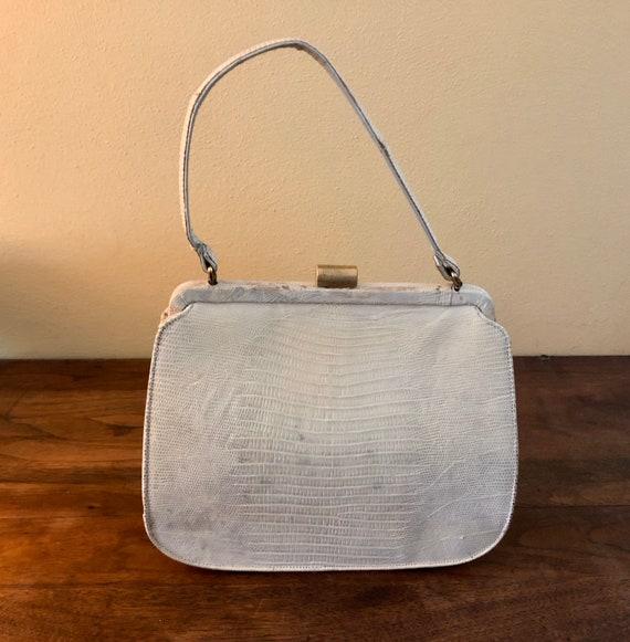 Vintage White Alligator Handbag