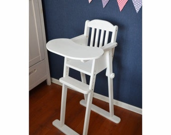 Brilliant Wood High Chair Etsy Gmtry Best Dining Table And Chair Ideas Images Gmtryco