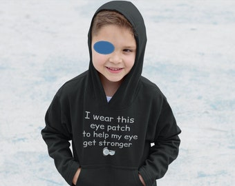 Eye Patch Toddler Pullover Fleece Hoodie/Gift For Toddler With Amblyopia/Eye Patch Clothing/Prevent Blindness Gifts/Patching/Strabismus