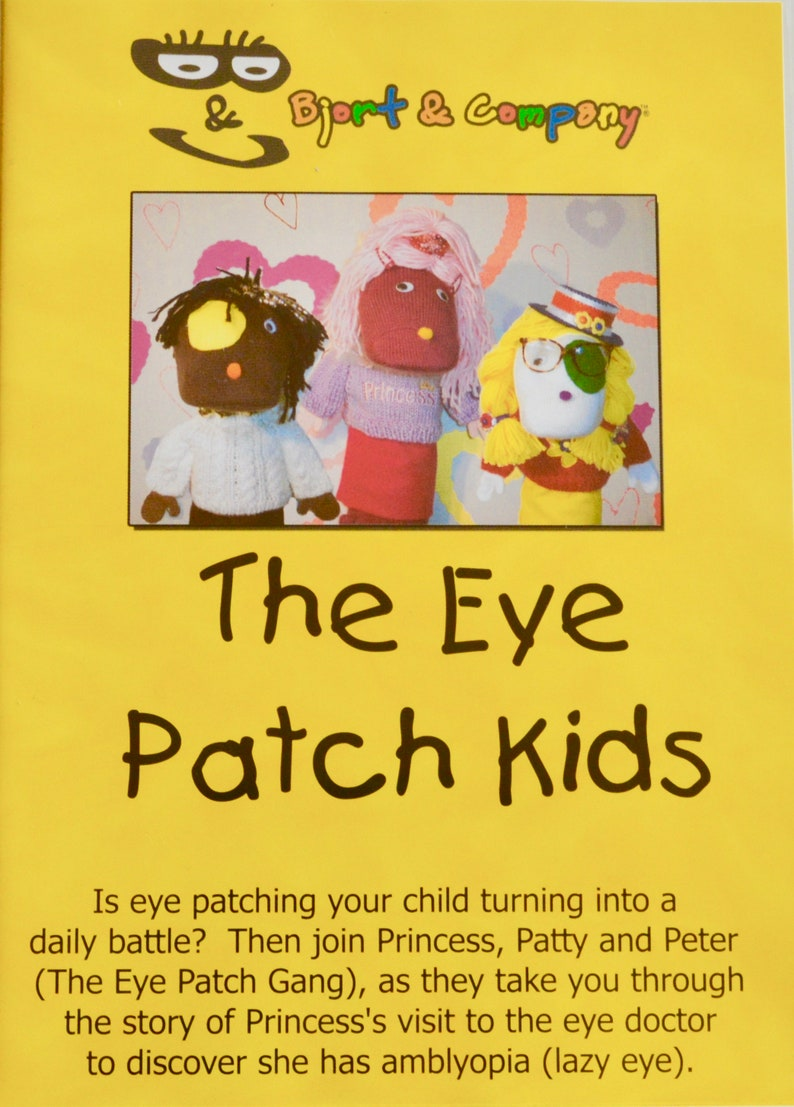 lazy eye patchamblyopia patcheye patchvideo for kidsdvd image 0