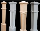 Red Oak and Primed White Newel Posts- Posts for stairs