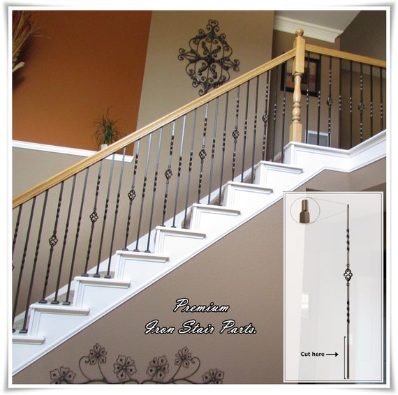 Iron Balusters Iron Stair Parts Iron Stair Railing Parts Etsy