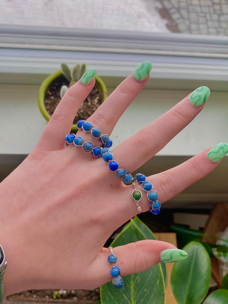 Lapis Lazuli Crystal Ring