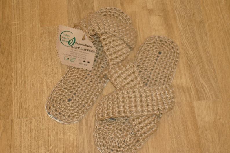 7. Hemp Slippers by Organic Buying
