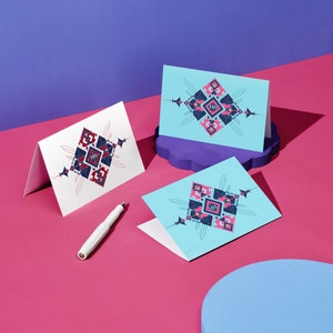 Honey Dijon Creator Collab - Blank  Greeting Card with Envelope for Any Occasion, Blank Note Card, Unique and Abstract Geometric Stationary