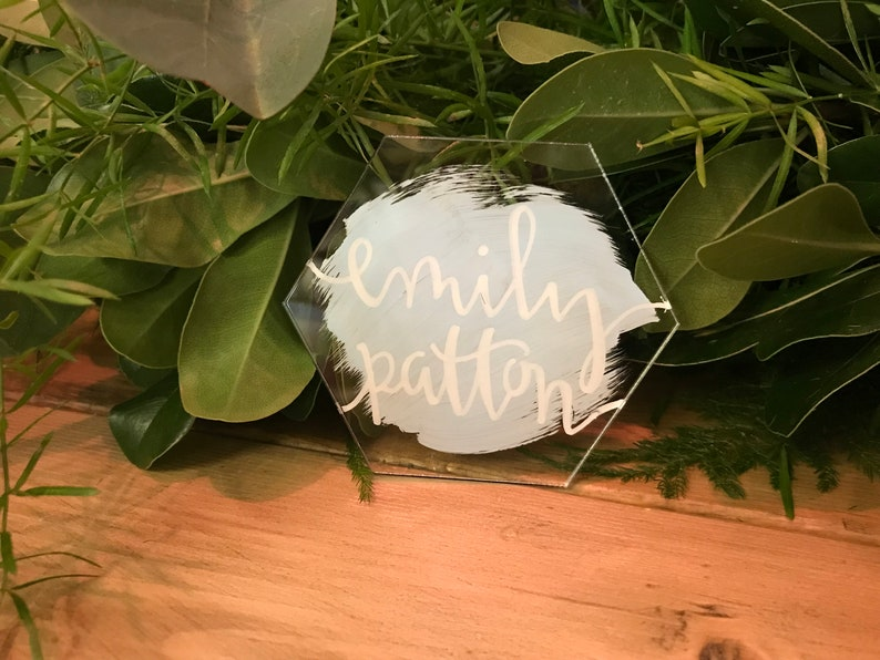 Hexagonal Hand-Painted Placecards