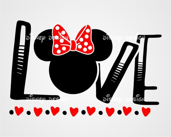 Disney Love Svg Disney Love Wording Svg Minnie Love Svg Etsy