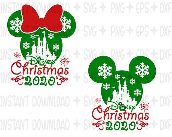 Disney Christmas 2020 Svg Mickey Minnie Mouse Svg Etsy