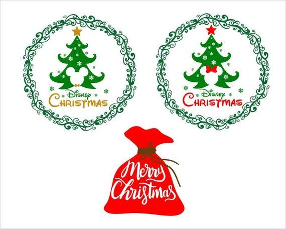 Merry Christmas Disney Christmas Svg Disneyland Tree Etsy
