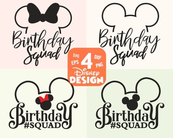 Birthday Squad Svg Best Birthday Ever Disney Svg And Png Etsy
