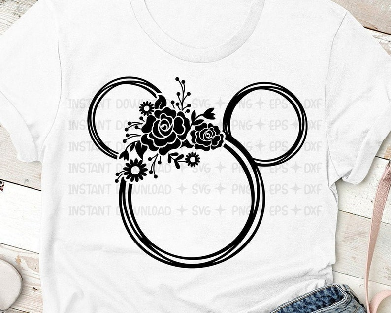 Flower and Garden Minnie SVG / Flower and Garden Mouse / image 0