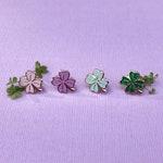 Lucky Clover Hard Enamel Lapel Pin - Small Board Fillers