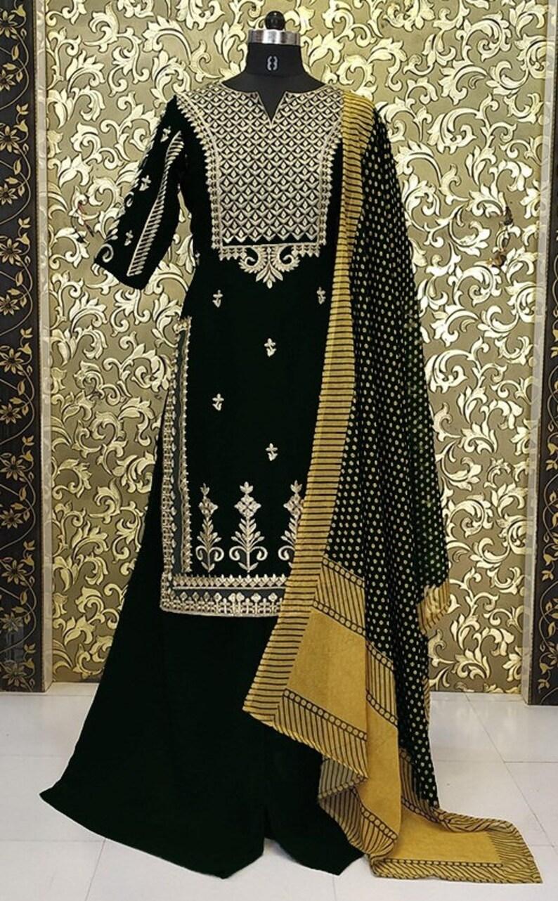 Indian Black Pakistani Dress Designer Party Wear Formal Stylish indian Wedding salwar kameez Punjabi Patiyala Suit Kurta Made To Order