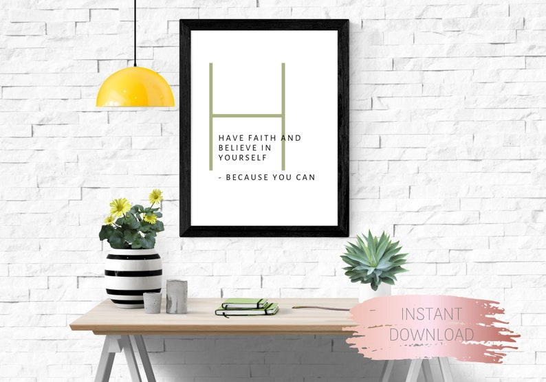 Printable motivational quote Faith printable quote wall art encouraging words digital art print