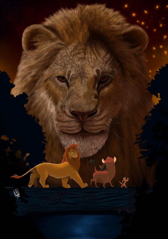 The Lion King Concept Art Print Etsy