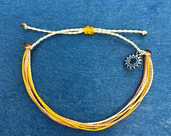 ROYALTYPura Vida Style Bracelet SetWaterproof BraceletWax thread BraceletSurfer BraceletBracelet SetBOHO braceletTrendypurple