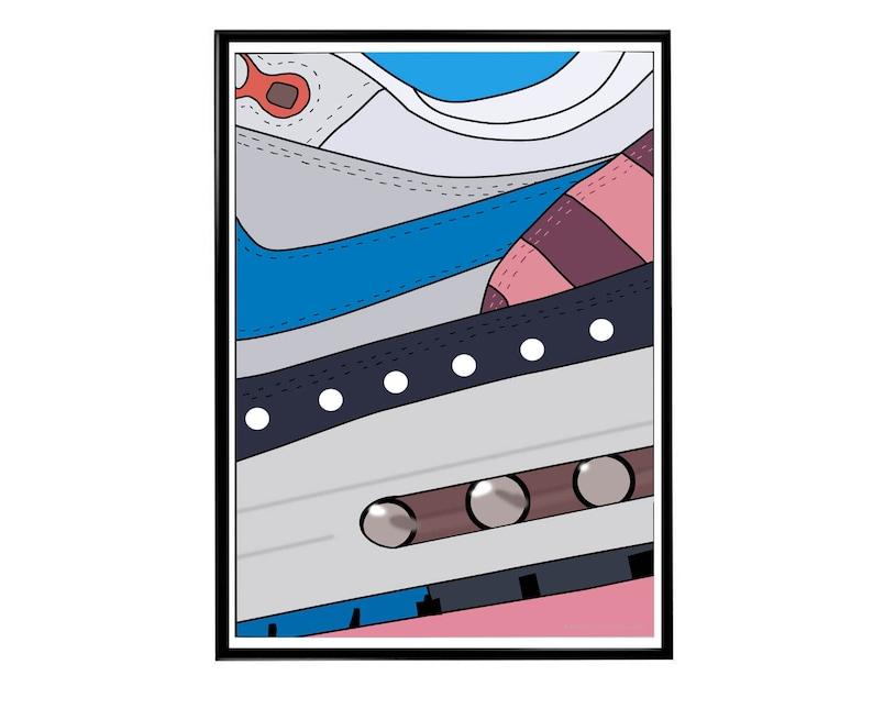 SW Air Max Collage Sneaker Poster Hypebeast Streetwear Wall Art Kicks Poster