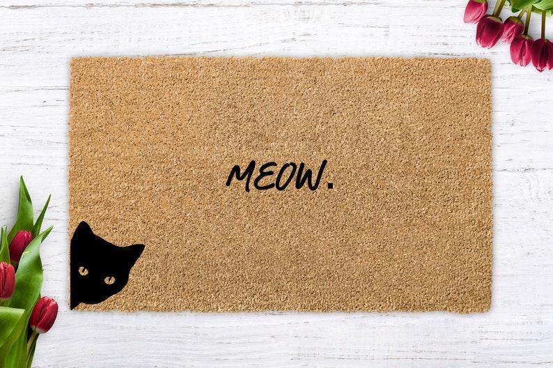 MEOW meow cat cute cat cat lover cat gift modern doormat image 0