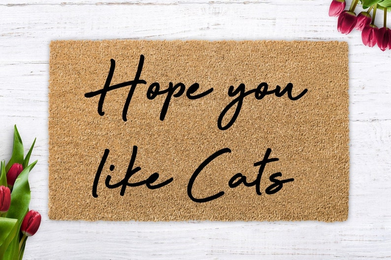 Hope you like cats cute cat cat lover cat gift modern image 0