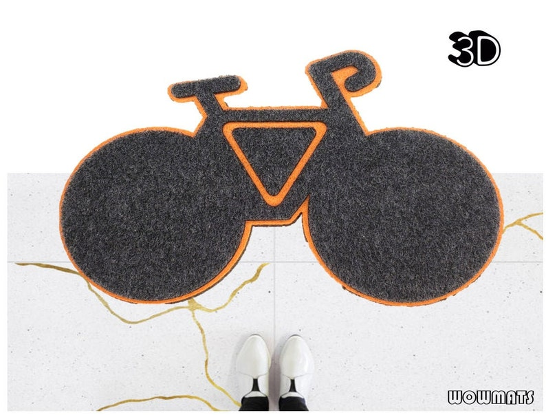 BIKE Doormat Bicycle door mat bike door mat bicycle image 0