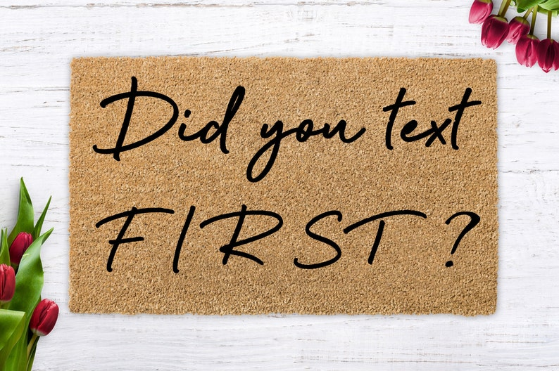Did you text FIRST unique birthday present housewarming image 0