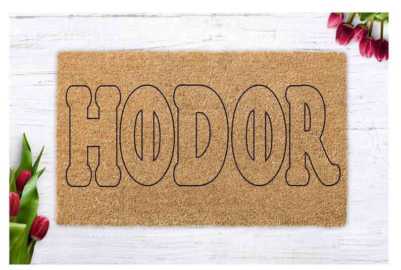 HODOR Doormat Hodor Funny Welcome Mat Geek Gift  Front image 0