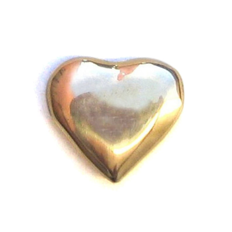 Solid Brass Heart of Gold Paper Weight