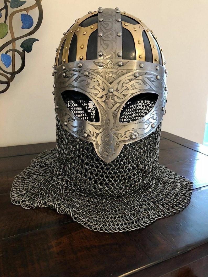 Medieval Knight Templar Helmet Crusader Costume Armor Helmet Collectible Gift