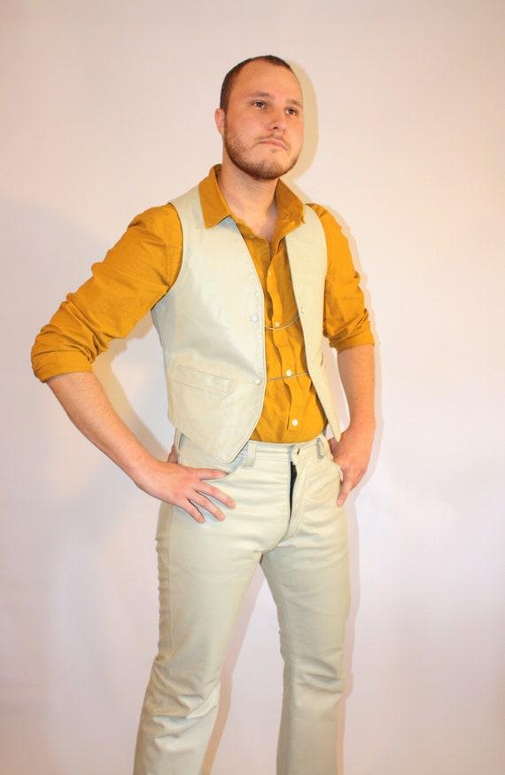 1970s Langlitz Leather Set (Vest and Pants)