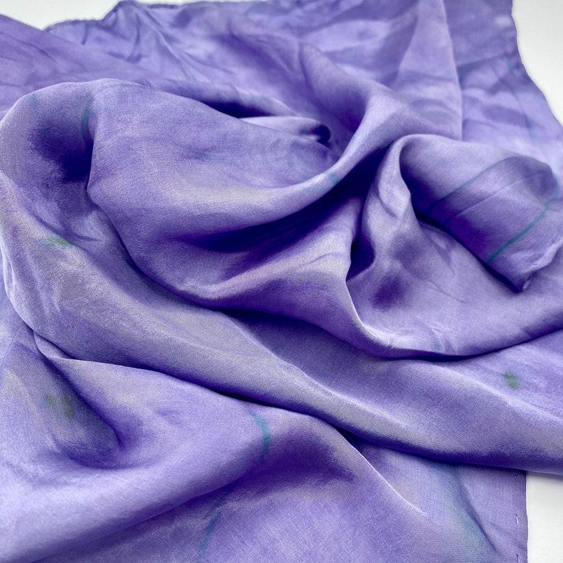 botanically dyed purple silk scarf Plant dyed silk bandana scarf square scarf