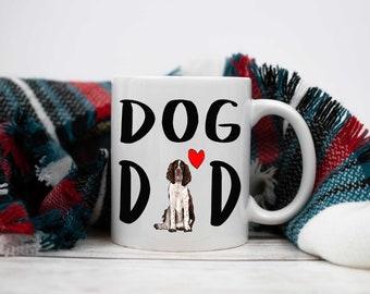 Springer Spaniel /'Love You Dad/' Black Rim Glass Coaster Animal Breed DAD-190GC