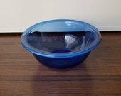 Vintage 1L Pyrex cobalt blue mixing nesting bowl 322