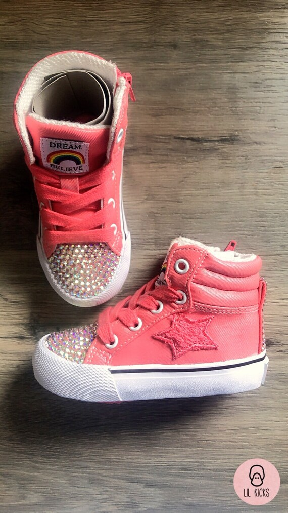 Custom pink Swarovski Crystal Trainers